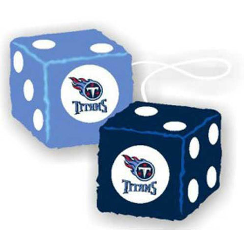 Tennessee Titans NFL 3 Car Fuzzy Dice