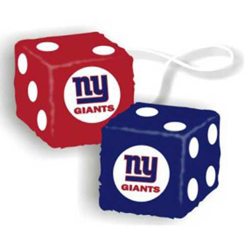 New York Giants NFL 3 Car Fuzzy Dice