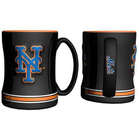 New York Mets MLB Coffee Mug - 15oz Sculpted (Single Mug)