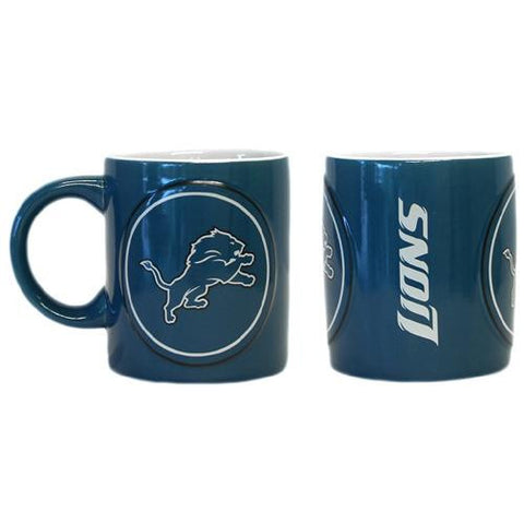 Detroit Lions NFL Coffee Mug - 14oz Sculpted Warm Up (Single Mug)