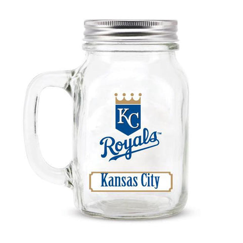 Kansas City Royals MLB Mason Jar Glass With Lid