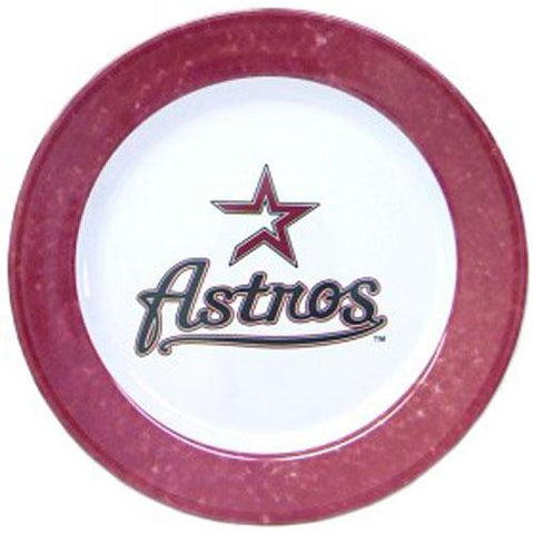 Houston Astros MLB 4 Piece Dinner Plate Set