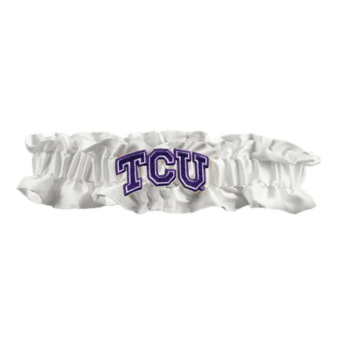 Texas Christian Horned Frogs NCAA Dainty Satin Garter (White)