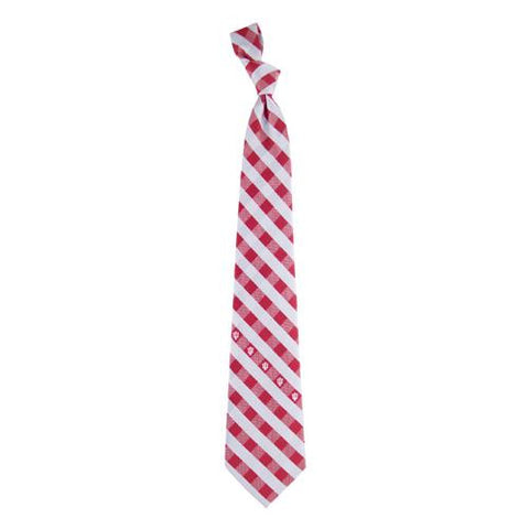 Indiana Hoosiers NCAA Check Poly Necktie