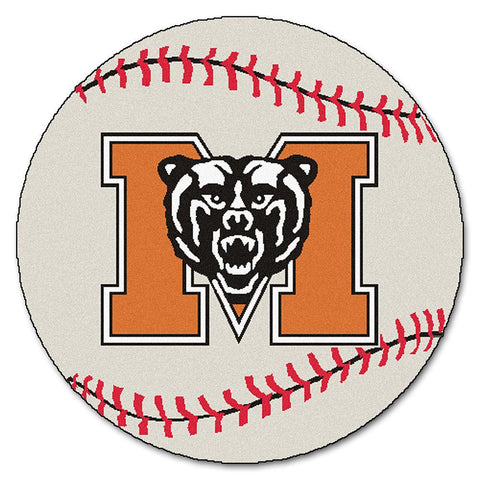 Mercer Bears NCAA Baseball Round Floor Mat (29)