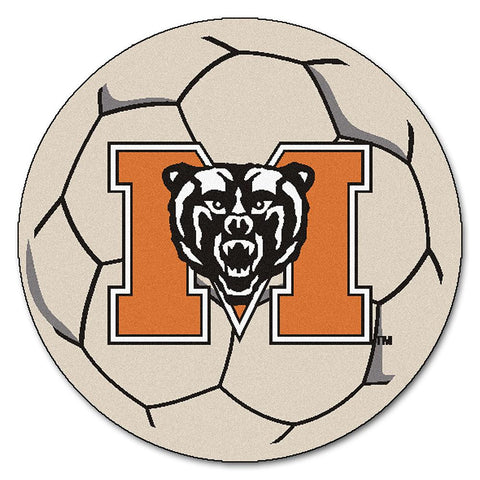 Mercer Bears NCAA Soccer Ball Round Floor Mat (29)