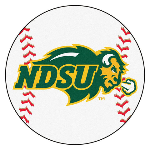 North Dakota State Bison NCAA Baseball Round Floor Mat (29)