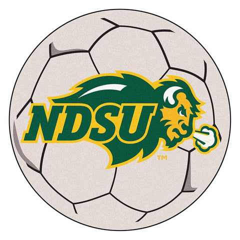 North Dakota State Bison NCAA Soccer Ball Round Floor Mat (29)