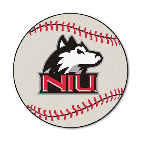 Northern Illinois Huskies NCAA Baseball Round Floor Mat (29)