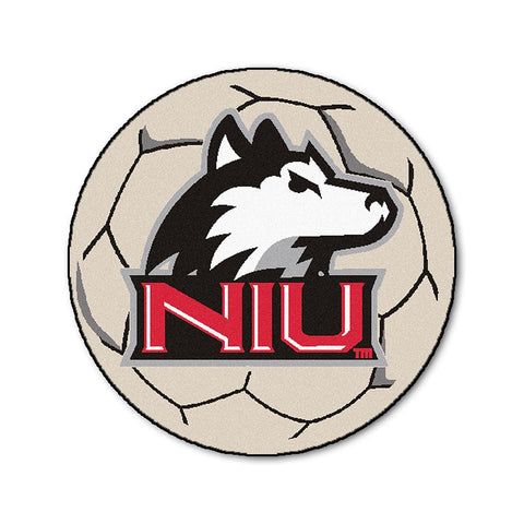 Northern Illinois Huskies NCAA Soccer Ball Round Floor Mat (29)
