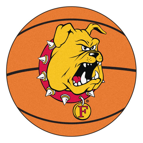 Ferris State Bulldogs NCAA Basketball Round Floor Mat (29)