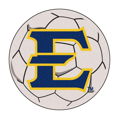 East Tennessee State Buccaneers NCAA Soccer Ball Round Floor Mat (29)