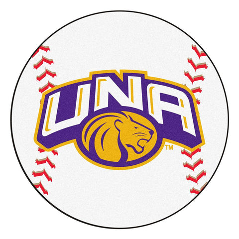 North Alabama Lions NCAA Baseball Round Floor Mat (29)