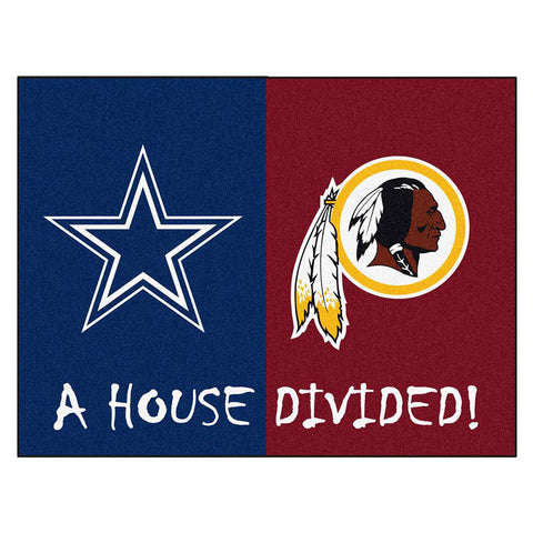 Dallas Cowboys-Washington Redskins NFL House Divided NFL All-Star Floor Mat (34x45)