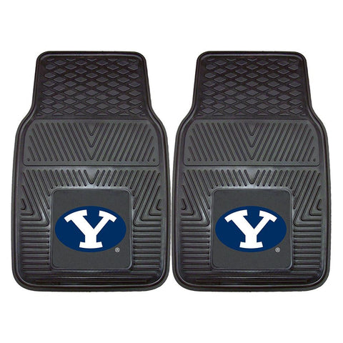 Brigham Young Cougars NCAA Heavy Duty 2-Piece Vinyl Car Mats (18x27)