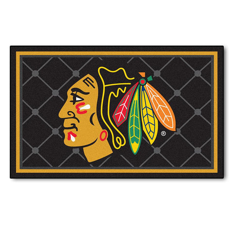 Chicago Blackhawks NHL 4x6 Rug (46x72)