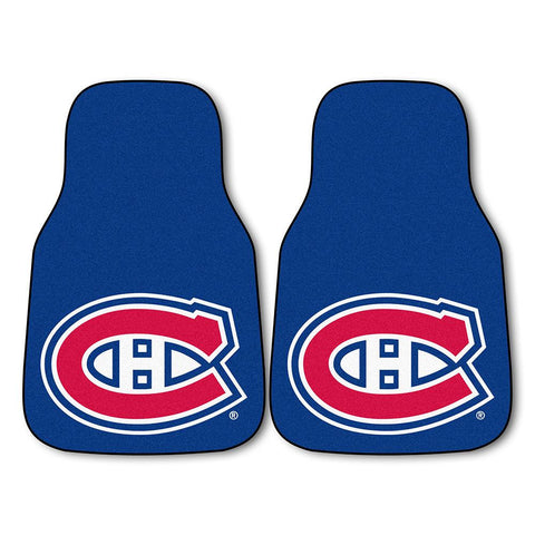 Montreal Canadiens NHL 2-Piece Printed Carpet Car Mats (18x27)