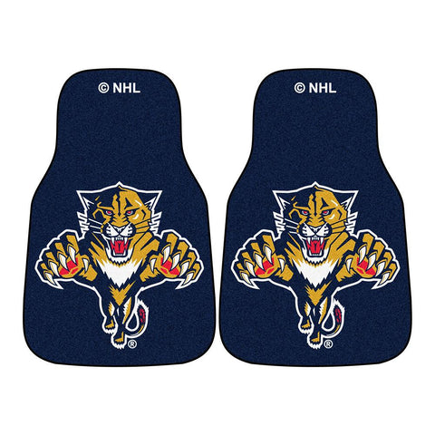 Florida Panthers NHL 2-Piece Printed Carpet Car Mats (18x27)