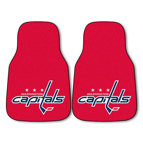 Washington Capitals NHL 2-Piece Printed Carpet Car Mats (18x27)