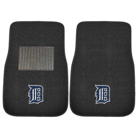 Detroit Tigers MLB 2-pc Embroidered Car Mat Set