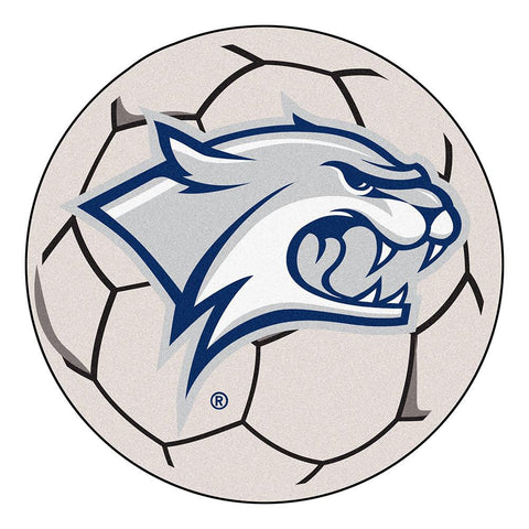 New Hampshire Wildcats NCAA Soccer Ball Round Floor Mat (29)