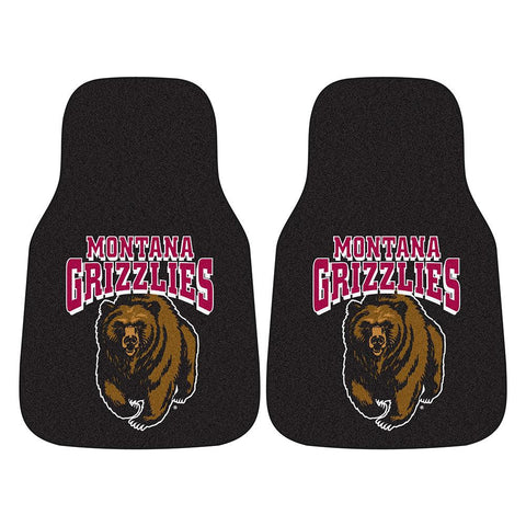 Montana Grizzlies NCAA 2-Piece Printed Carpet Car Mats (18x27)