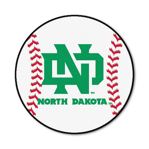 North Dakota Fighting Sioux NCAA Baseball Round Floor Mat (29)