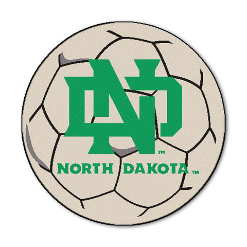 North Dakota Fighting Sioux NCAA Soccer Ball Round Floor Mat (29)