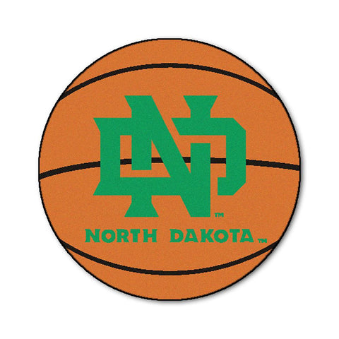 North Dakota Fighting Sioux NCAA Basketball Round Floor Mat (29)