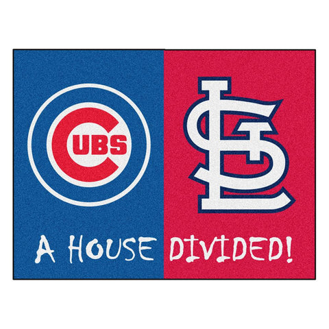 Chicago Cubs-St. Louis Cardinals MLB House Divided All-Star Floor Mat (34x45)