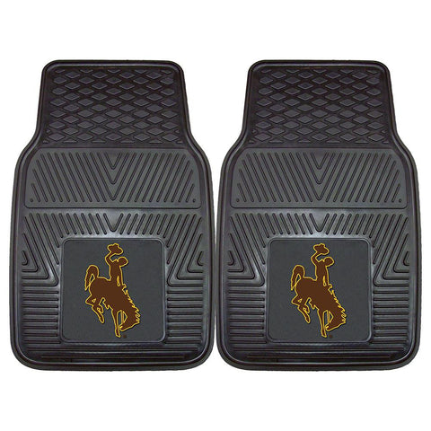 Wyoming Cowboys NCAA Heavy Duty 2-Piece Vinyl Car Mats (18x27)