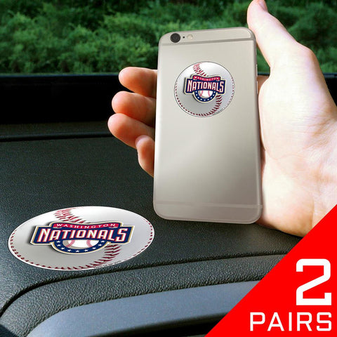 Washington Nationals MLB Get a Grip Cell Phone Grip Accessory (2 Piece Set)