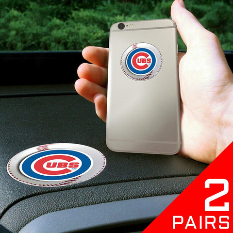 Chicago Cubs MLB Get a Grip Cell Phone Grip Accessory (2 Piece Set)
