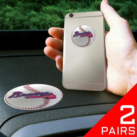 Atlanta Braves MLB Get a Grip Cell Phone Grip Accessory (2 Piece Set)