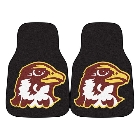 Quincy University NCAA 2-Piece Printed Carpet Car Mats (18x27)