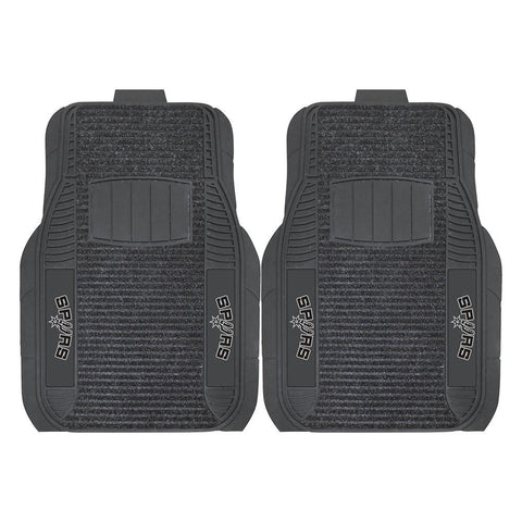 San Antonio Spurs NBA Deluxe 2-Piece Vinyl Car Mats (20x27)