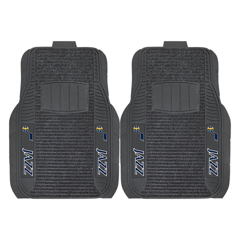 Utah Jazz NBA Deluxe 2-Piece Vinyl Car Mats (20x27)