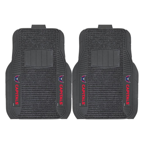 Washington Capitals NHL Deluxe 2-Piece Vinyl Car Mats (20x27)