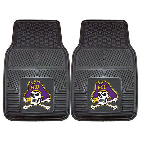 East Carolina Pirates NCAA Heavy Duty 2-Piece Vinyl Car Mats (18x27)