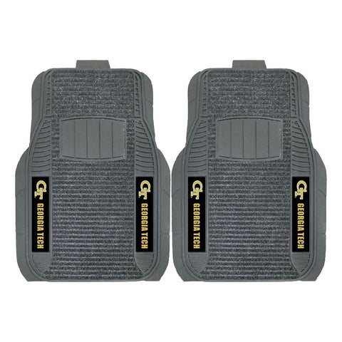 Georgia Tech Yellowjackets NCAA Deluxe 2-Piece Vinyl Car Mats (20x27)