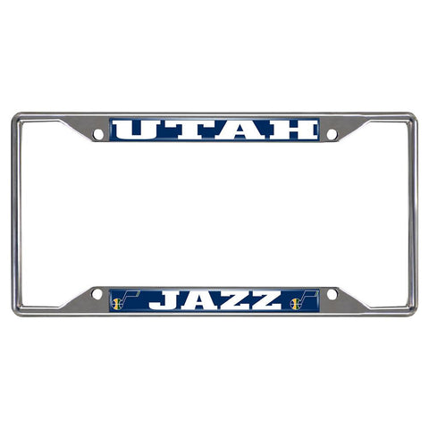 Utah Jazz NBA Chrome License Plate Frame