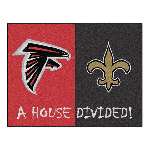 Atlanta Falcons-New Orleans Saints NFL House Divided NFL All-Star Floor Mat (34x45)