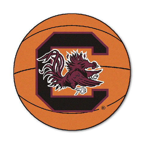 South Carolina Fighting Gamecocks NCAA Basketball Round Floor Mat (29)