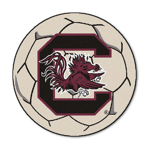 South Carolina Fighting Gamecocks NCAA Soccer Ball Round Floor Mat (29)