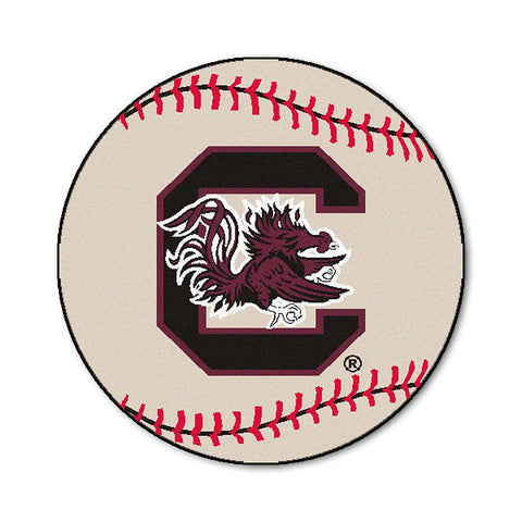 South Carolina Fighting Gamecocks NCAA Baseball Round Floor Mat (29)