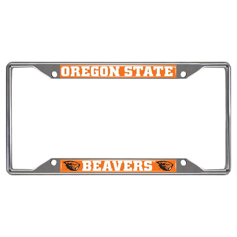 Oregon State Beavers NCAA Chrome License Plate Frame