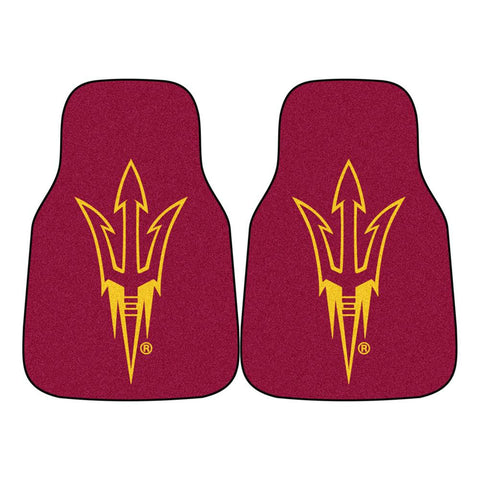 Arizona State Sun Devils NCAA 2-Piece Printed Carpet Car Mats (18x27)