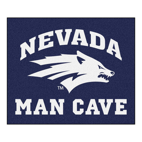 Nevada Wolf Pack NCAA Man Cave Tailgater Floor Mat (60in x 72in)