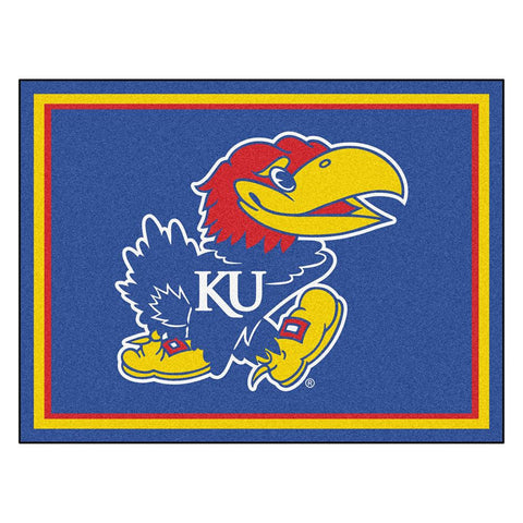 Kansas Jayhawks NCAA 8ft x10ft Area Rug