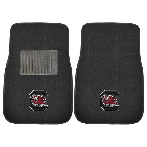 South Carolina Gamecocks NCAA 2-pc Embroidered Car Mat Set